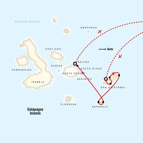 Galapagos - 4 days cruising East, South & Central islands aboard Alia