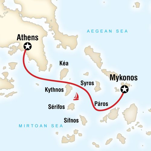 Sailing Greece - Athens to Mykonos
