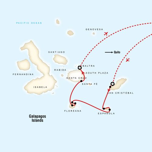 Galapagos - 4 days cruising East, South & Central islands aboard Cormorant