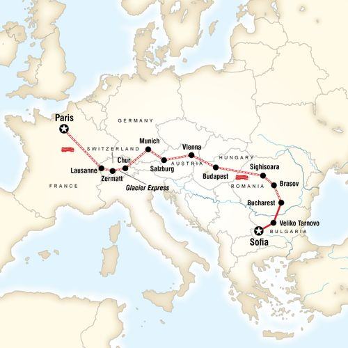 Paris to Sofia by Rail