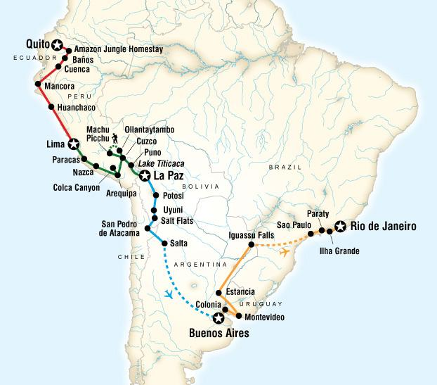 One World Trips - Yolo Tours - South America