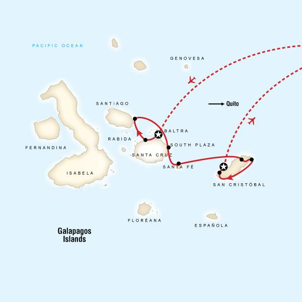 Galapagos - 5 days cruising Central & East islands aboard Cormorant