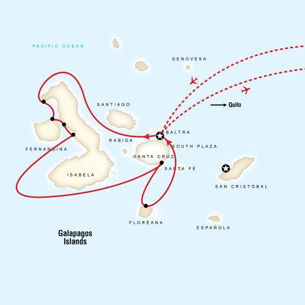 Galapagos - 6 days cruising West & South islands aboard Santa Cruz II