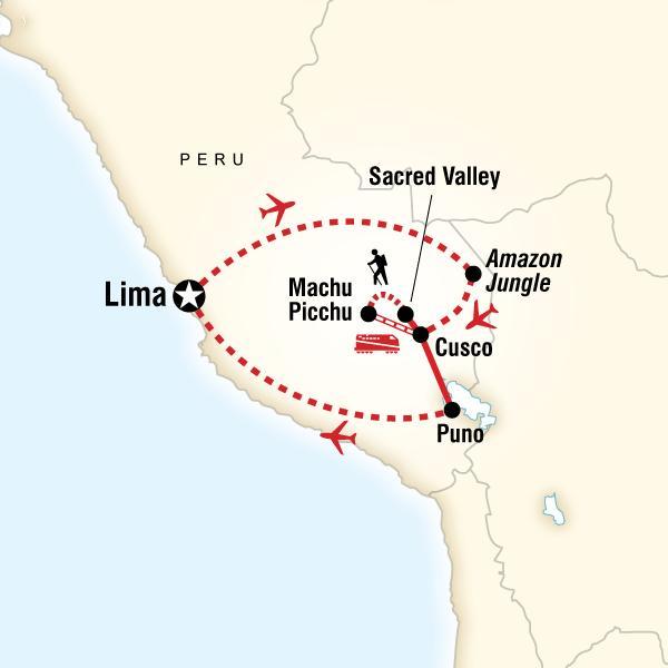 Iconic Peru map