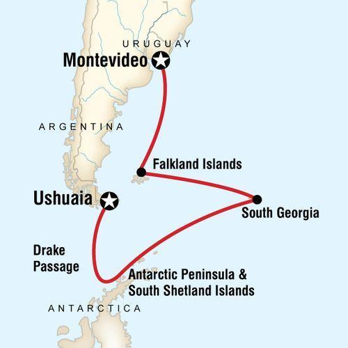 Falklands, South Georgia & Antarctica map