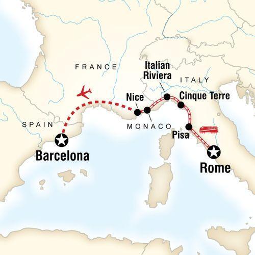 Mediterranean Express map