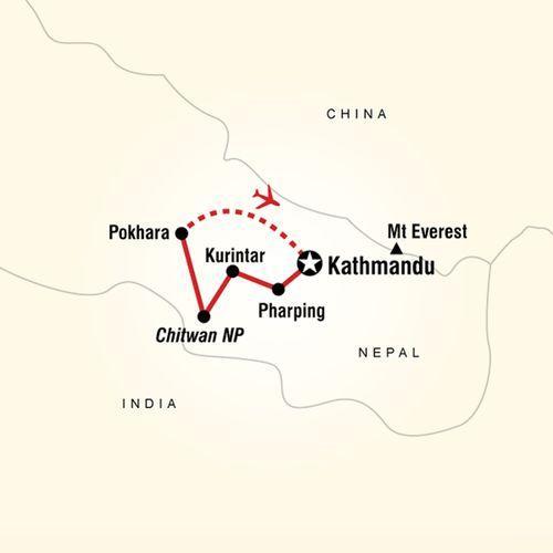 Nepal: Himalaya Highlights map