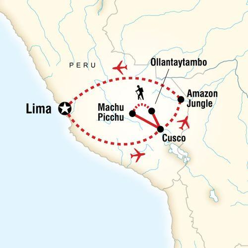 Amazon to the Andes map