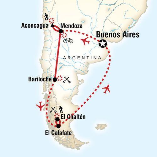 Argentina Multisport map