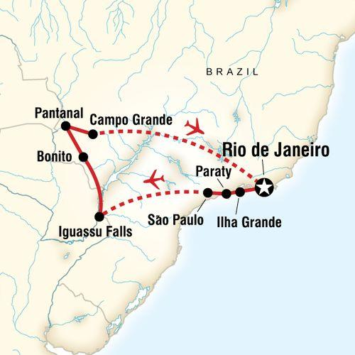Wonders of Brazil map