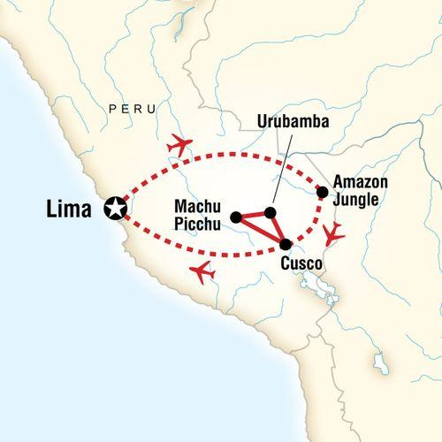 Peru Family Experience map