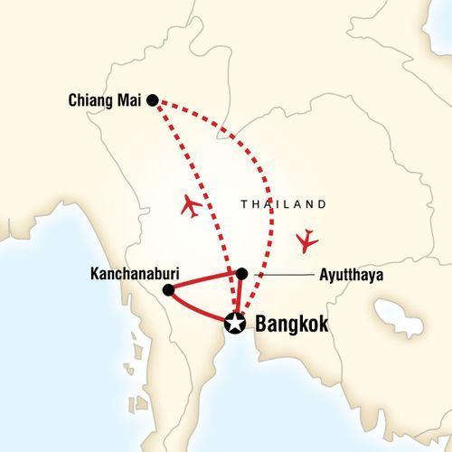 Thailand Journey map