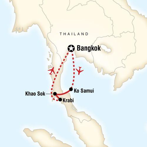Explore Southern Thailand map