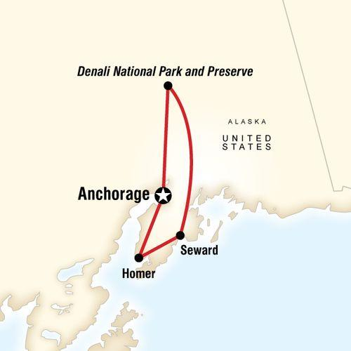 Alaska Journey map