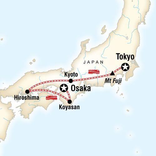 Japan Express: Osaka to Tokyo map