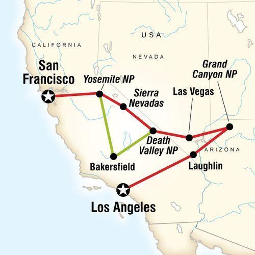 Western Express Northbound map